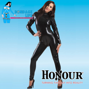 Back-Zip Latex Catsuit