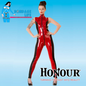 Sabrina Two Tone Latex Catsuit