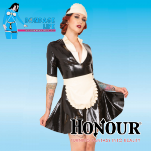 Latex Rubber Maid Dress